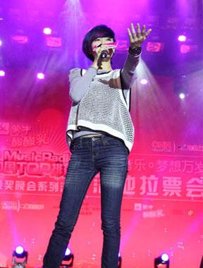 郁可唯陈楚生、刘心杭州对阵为TOP榜拉票
