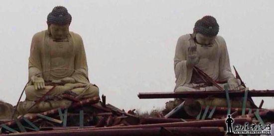 广东大佛台风中被吹低头 - JESUS LOVE YOU     - 生命的粮