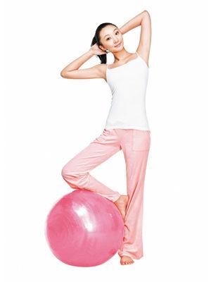 内衣球调整操有效燃脂聚拢a内衣曲线(图)拉卡美体塑身减肥塑造瑜伽图片