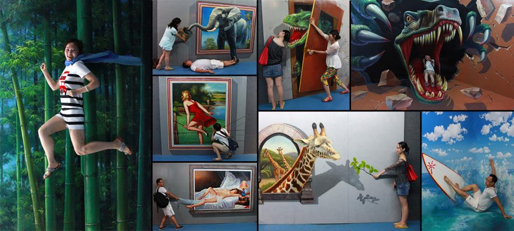 欧美抽象人物墙绘