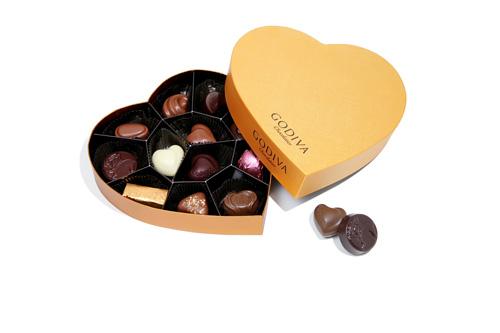 梵2012心形巧克力礼盒浓情上市