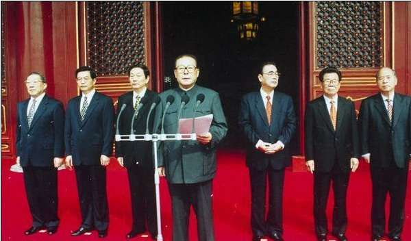 历届中共中央领导人国庆观礼照片图片