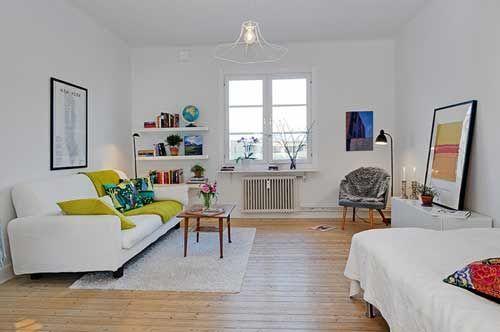 小户型室内装修玩简约34平方迷人温馨小户