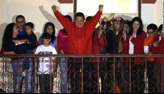 查韦斯2012年10月再次连任委内瑞拉总统
