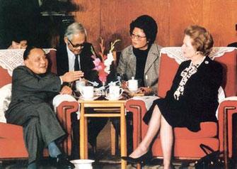邓小平与撒切尔夫人
