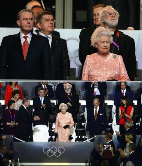 女王出席伦敦奥运开幕式-英女王亮相奥运会开幕 粉色套装裙惊艳全场图片