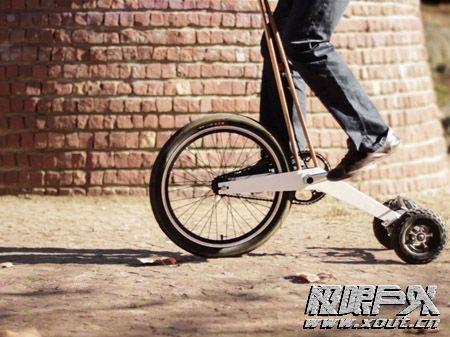 轮滑加滑板车加自行车的神奇代步工具
