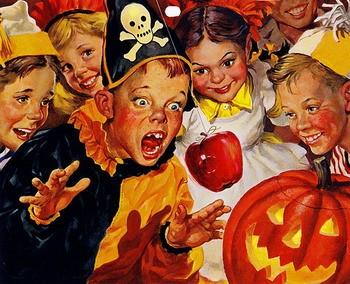 月1日是西方的万圣节.10月31日是万圣节前夕.通常叫做万圣节前