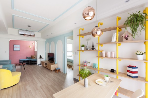 精致创意的两居室公寓设计 麻雀虽小五脏俱全