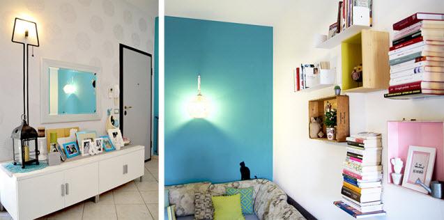 板订成树形,用书架做一个个小小的构思,使房间变得十分温馨.(