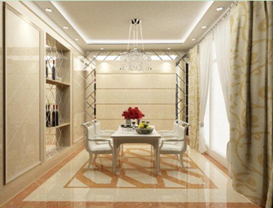 安华瓷砖大理石瓷砖阿曼米黄装修效果图