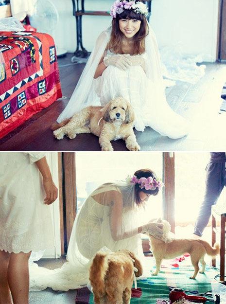 李孝利公开结婚照 展自在可爱面貌[高清大图]