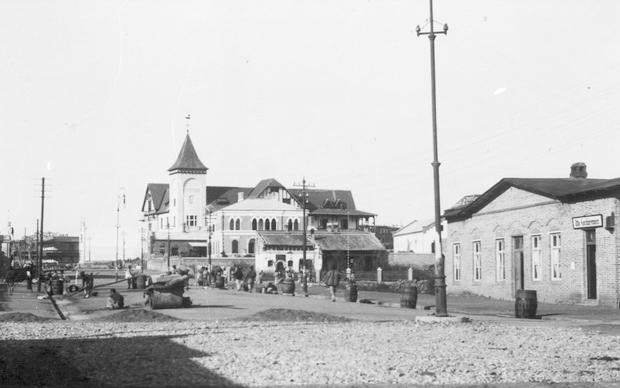 德占时期中山路以德县路为界分为南北两段