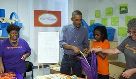 奥巴马访学校遭嫌弃
