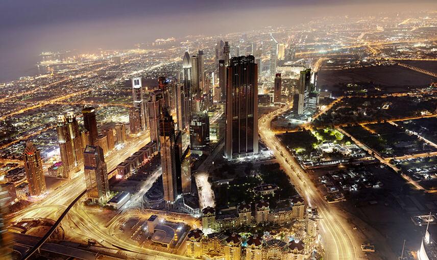 国外摄影师镜头中的迪拜鸟瞰图