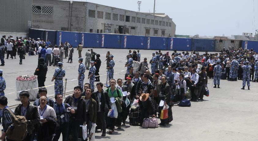 中国军舰赴也门载中国公民安全撤离