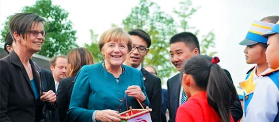 """德国总理默克尔感受""""活力安徽"""""""