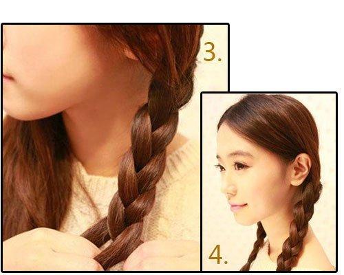 韩式新娘发型扎法步骤教程