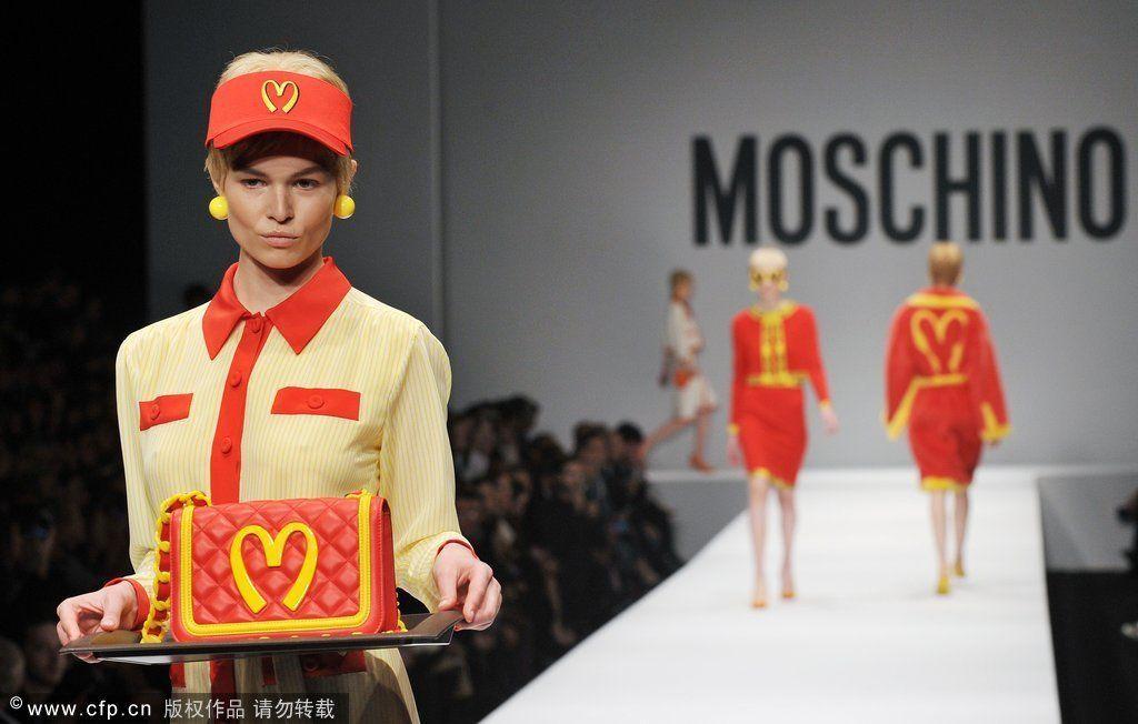 米兰当地时间2014年2月20日,MOSCHINO2014秋冬发布