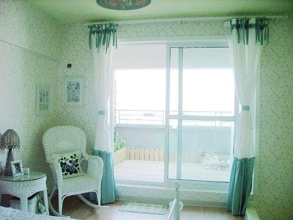 5万元装修绿色田园韩式风格单身公寓(组图)