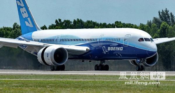 """新加坡航展:波音-787""""梦想""""客机展示内部座舱 (组图)"""