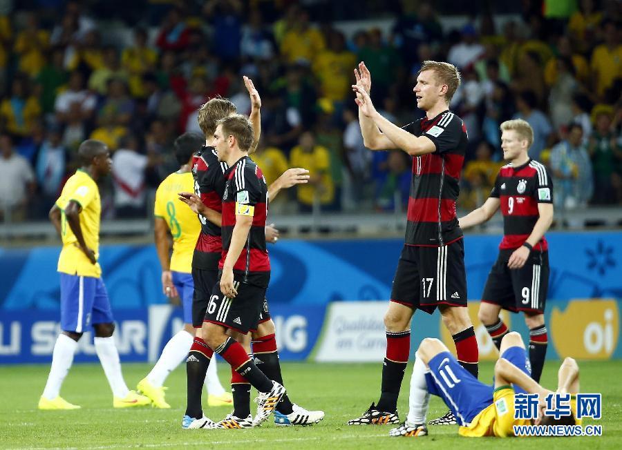 当日,在巴西贝洛奥里藏特米内罗大球场进行的2014年巴西世界杯图片