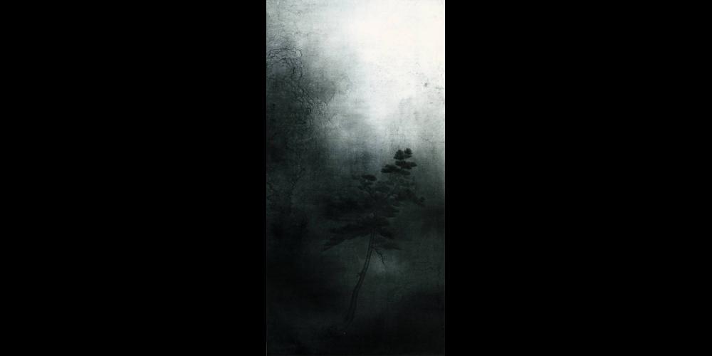 日色冷青松-136x68cm
