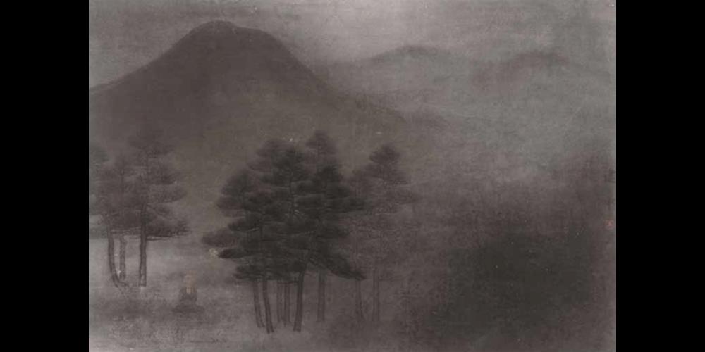 松龛嶽色侵-45cm×68cm
