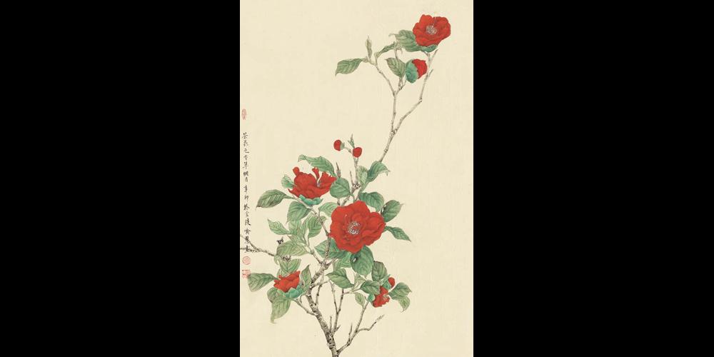 《冬至——茶花》66cmx43cm-2011年