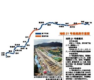 广州地铁21号线5个站要设越行线图片