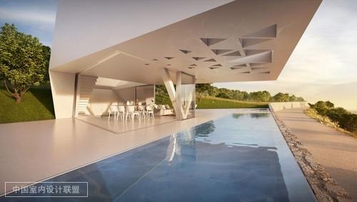 希腊罗德岛度假别墅 白色几何艺术