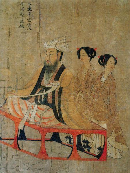 阎立本(约601~673),中国唐代画家兼工程学家。《历代帝王图卷》,就是古代画家企图表现性格特点的重要作品。这一画卷共包含了十三个帝王的肖像,其中前六人距阎立本时代较远,后七人则较近。陈叔宝及杨坚父子等人,阎立本都有可能亲自会见过,字文邕虽是他的外祖父,因去世较早,恐未及见,但对他的了解可能是较真实具体的。