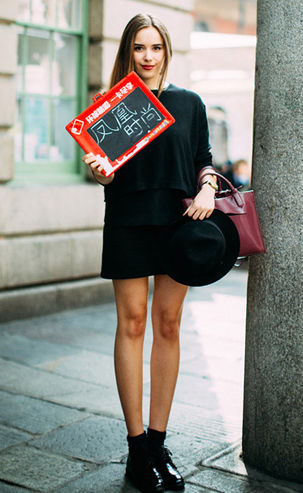 凤凰时尚独家街拍:多彩才是伦敦时装周
