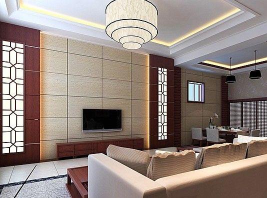 电视背景墙装修效果图 用柔软的布料做背景墙能营造出华丽的效果,布料能够吸收杂音让房间更安静,同时还会带来安全感。用布料做背景墙可以随季节和心情选择自己喜欢的颜色和图案,让整个房间变样。并且适用性很大,但要注意的是如果房间还有窗帘,颜色一定要接近墙面。小房间如果用布料做背景墙则面积不宜过大。