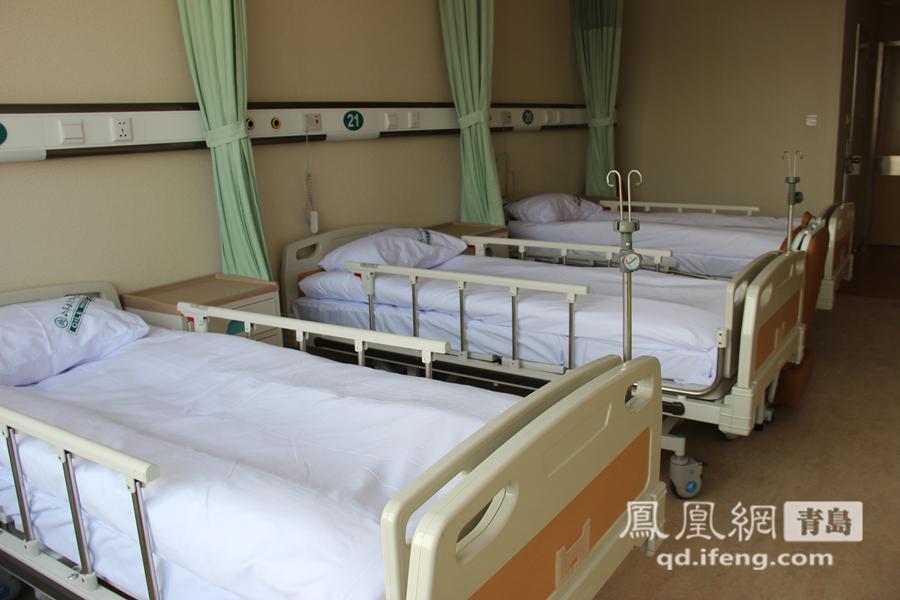 每个病房分三个床位.山东大学齐鲁医院(青岛)将于12月26日正式图片