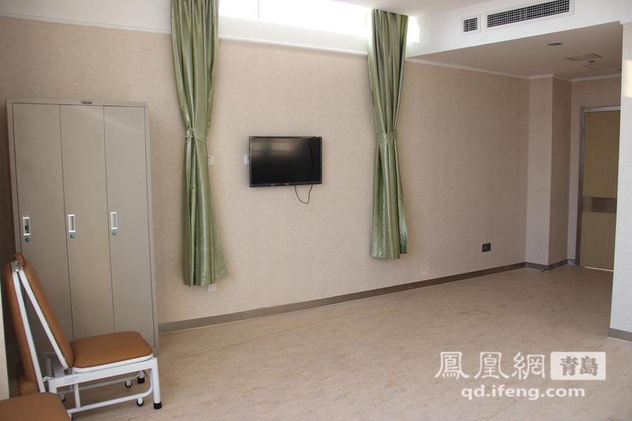 病房内有电视机.山东大学齐鲁医院(青岛)将于12月26日正式开诊,图片