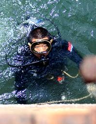 北海舰队潜水员训练