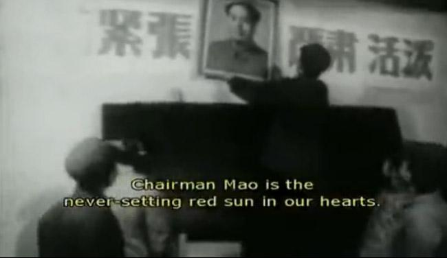 泽东思想能治好聋哑人视频资料.图为宣传毛泽东思想.-文革时期宣
