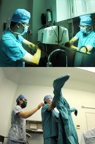 9点40分:唇裂三度修复手术