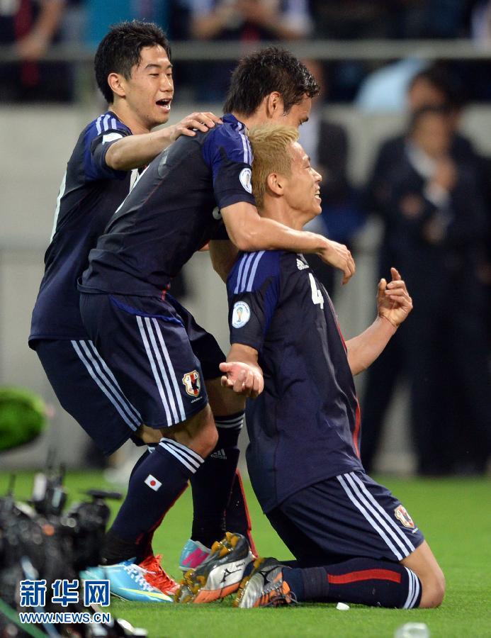 ,在2014年巴西世界杯亚洲区预选赛B组第8轮中,日本队以1比1战图片