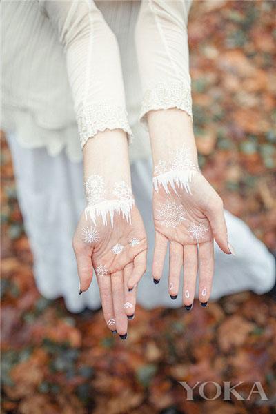 手指手心纹身贴