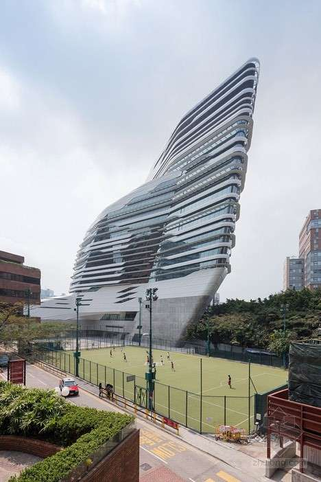 扎哈哈迪德设计的香港理工大学赛马会创新大厦