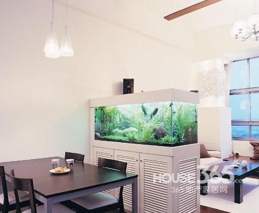 鱼缸玄关装修效果图 打造你的好风水家居