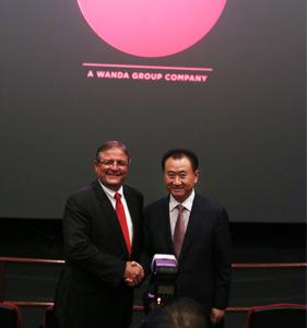 王健林董事长与美国AMC公司CEO