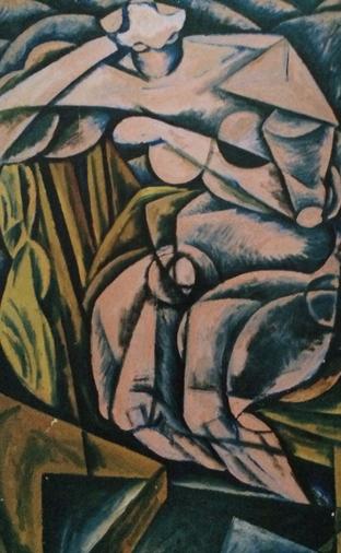 油画:《坐在椅子上的女人体》
