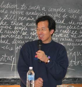 俞敏洪在GRE写作班发表演讲