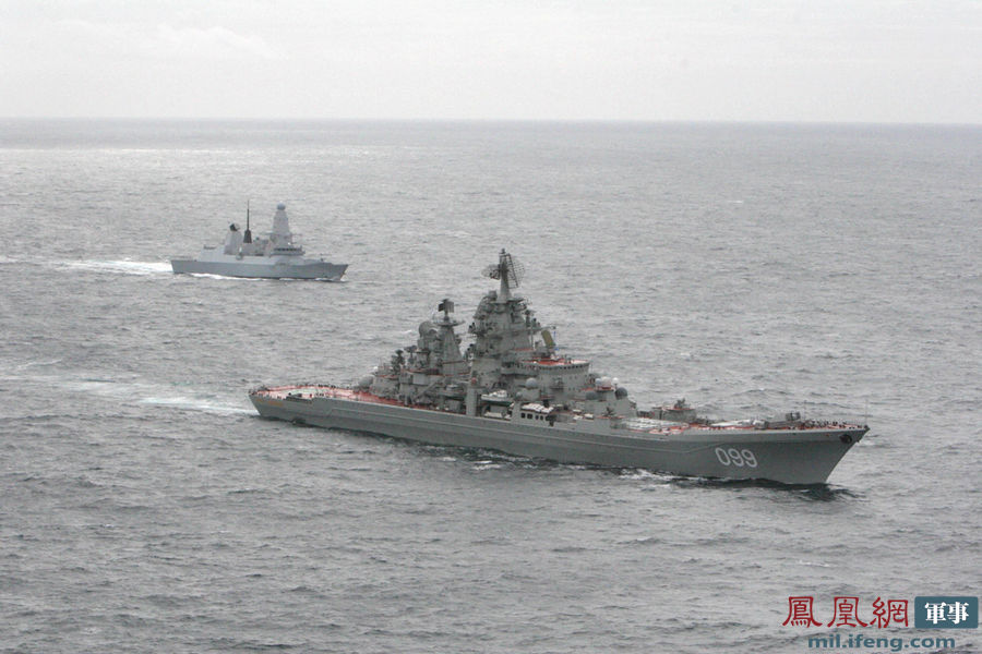 """英吉利海峡/俄航母率核巡洋舰进英吉利海峡英""""飞龙""""号尾随(/4)"""