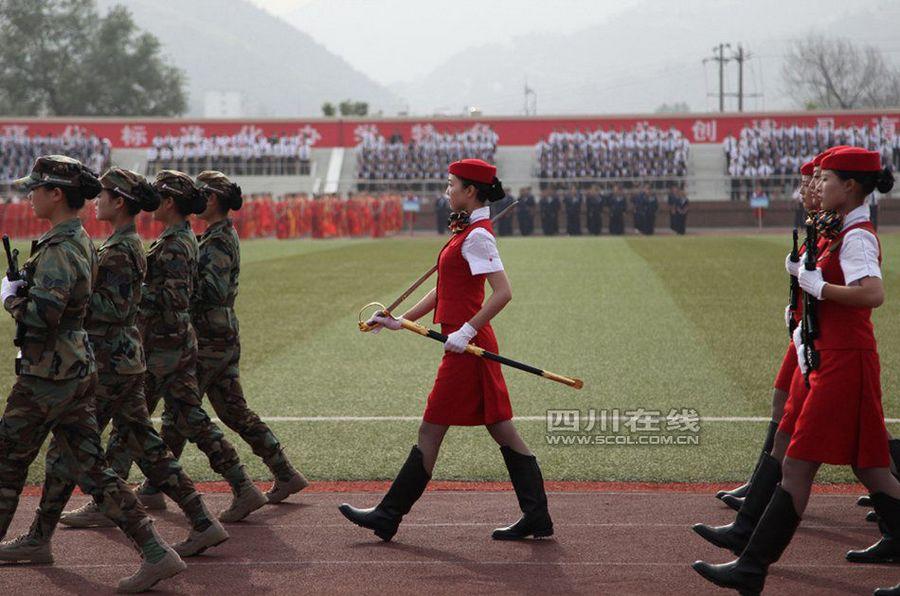 高校女子仪仗队首次亮相成都 - 高山松 - gaoshansong.good 的博客