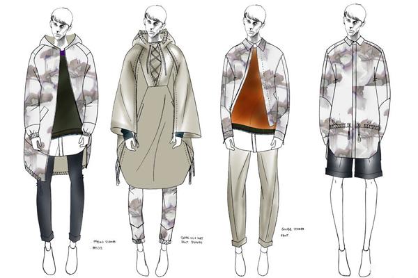 9大品牌时装画 揭2015春夏米兰男装周神秘面纱
