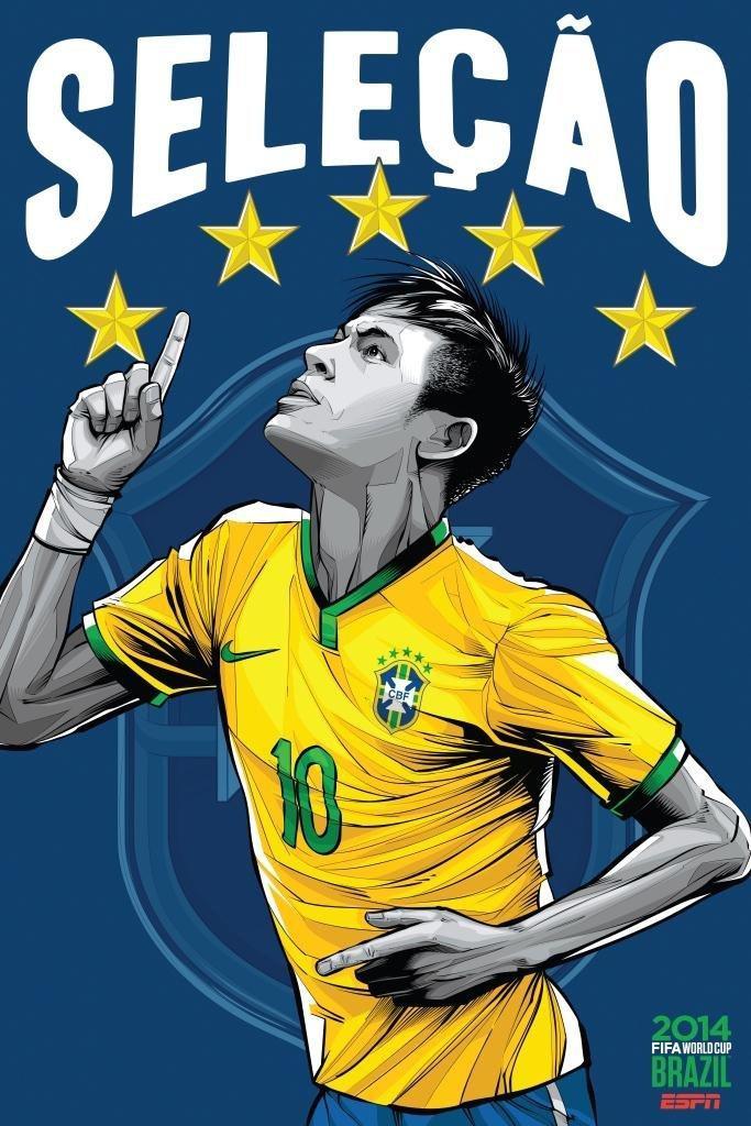 2014年世界杯各国家队海报图片